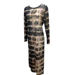 nwt Topshop Sheer Tie Dye Midi Dress 8-10